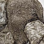 Stone Wreath, Detail: artwork by Rebecca Gilbert