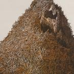 Thatching Mound (Orange and Brown), Rebecca Gilbert