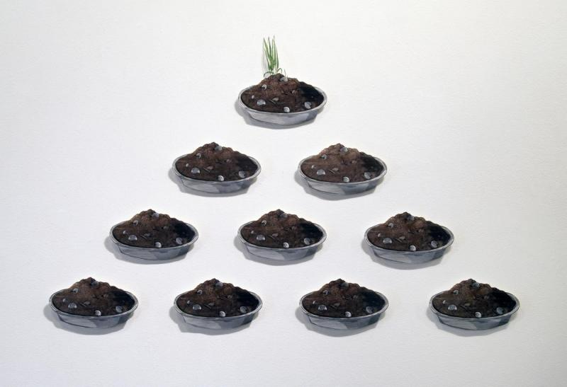 Dirt Pie Fortune Pyramid: artwork by Rebecca Gilbert