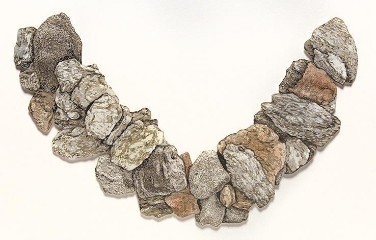 Stone Wreath: artwork by Rebecca Gilbert