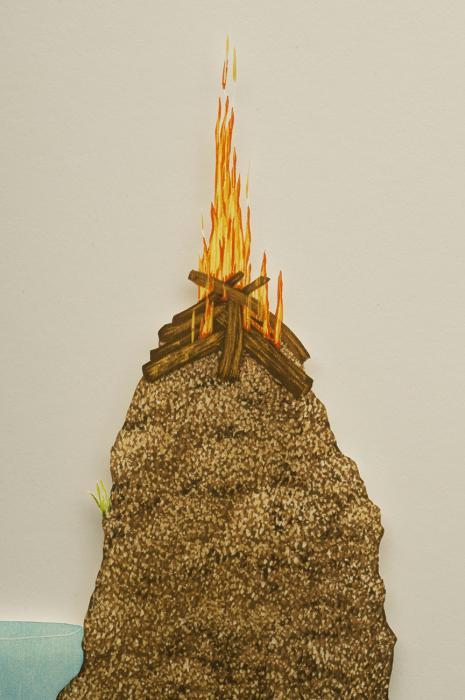 Happy Place (Weed, Dirt, Water, Fire), Detail, Rebecca Gilbert
