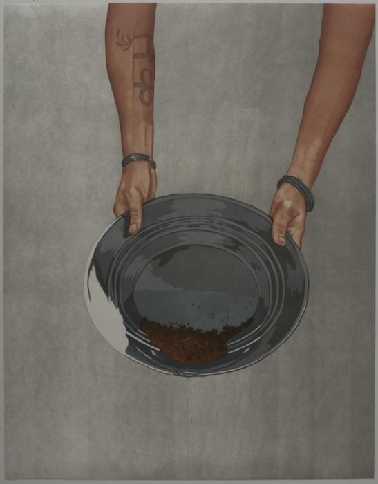 Panning: artwork by Rebecca Gilbert