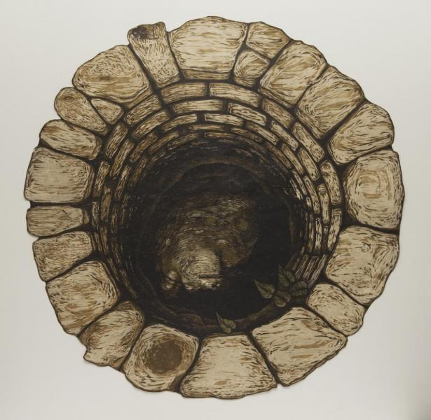 Into the Well: artwork by Rebecca Gilbert